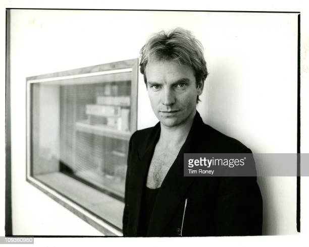 English musician singer and songwriter Sting at the BBC studios in London after an interview for Radio 1 circa 1984