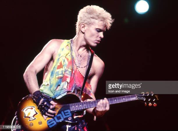 English musician, singer, songwriter, and actor, Billy Idol, performing on May 23 at the Pine Knob Music Theater in Clarkston, Michigan.