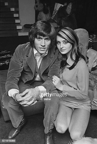 English musician singer songwriter and record producer Maurice Gibb with his girlfriend Linda Grey 1969