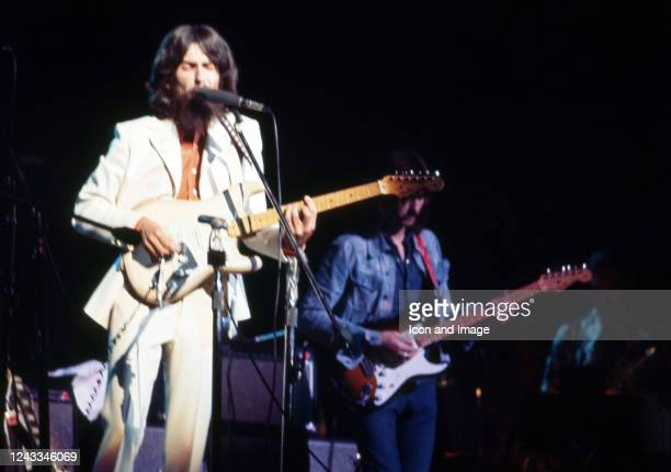 English musician, singer, songwriter, music and film producer and lead guitarist for the Beatles, George Harrison , and English rock and blues...