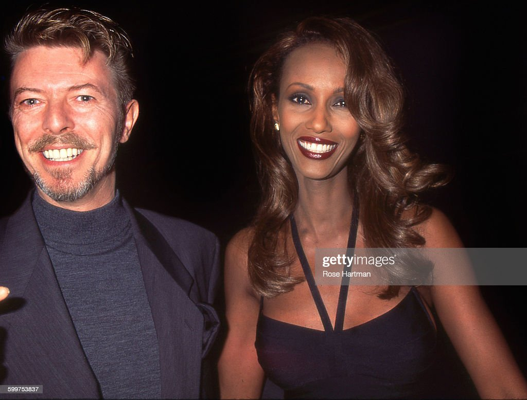 David Bowie And Iman : News Photo