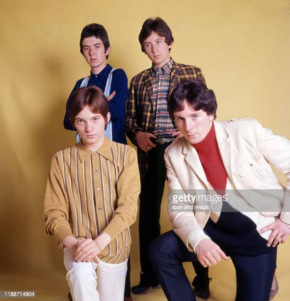 English musician, songwriter and producer Ronnie Lane , English drummer Kenney Jones, English musician and actor Jimmy Winston, and English musician,...