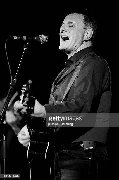 English musician Steve Harley performing live on stage at the Union Chapel in London on November 26, 2010. Harley was formerly the frontman of 1970s...