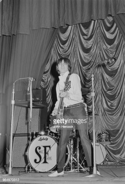 English musician Steve Marriott , frontman of mod rock band the Small Faces, performs at the ABC Cinema in Romford, Essex, 9th April 1967.