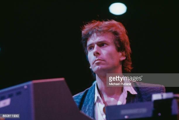 English musician Tony Banks of rock group Genesis circa 1980