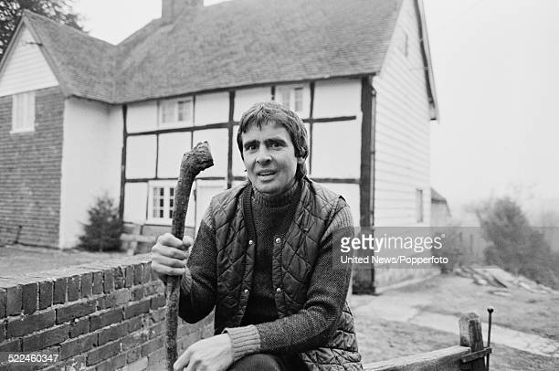 English musicianactor and ex member of The Monkees Davy Jones pictured outside his house near East Grinstead Sussex on 21st February 1979