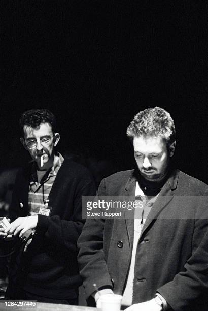 English musicians Richard Coles and Jerry Dammers, perform during the Red Wedge Tour, Manchester Apollo, Manchester, 1/25/1986. During the latter...