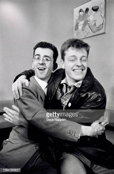 English musicians Richard Coles and Suggs , Red Wedge Tour, Birmingham Odeon, Birmingham, 1/27/1986. During the latter half of the 1980s, the Red...