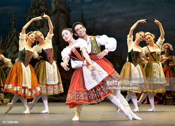 English National Ballet Company performing Coppelia at The London Coliseum UK Act 1 Swanlida Shiori Kase Franz Yonah Acosta plus artists of the...