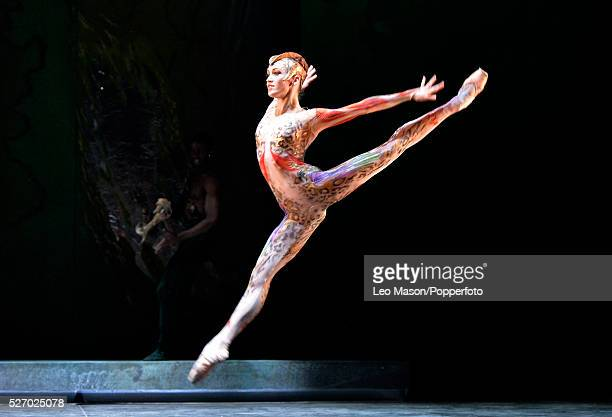 English National Ballet Company performing LEST WE FORGET at the Barbican Theatre London UK Firebird Ksenia Ovsyanick