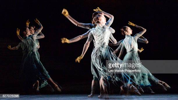 English National Ballet Company performing LEST WE FORGET at the Barbican Theatre London UK No Man's Land Artists of the Company