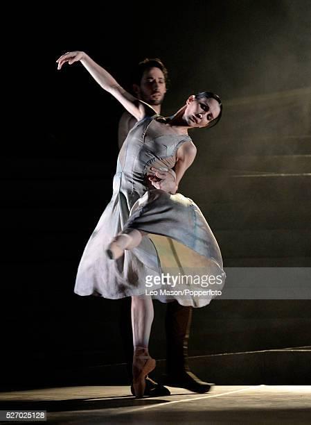 English National Ballet Company performing LEST WE FORGET at the Barbican Theatre London UK No Man's Land Tamara Rojo Esteban Berlange
