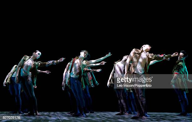 English National Ballet Company performing LEST WE FORGET at the Barbican Theatre London UK Second Breath Artists of the Company