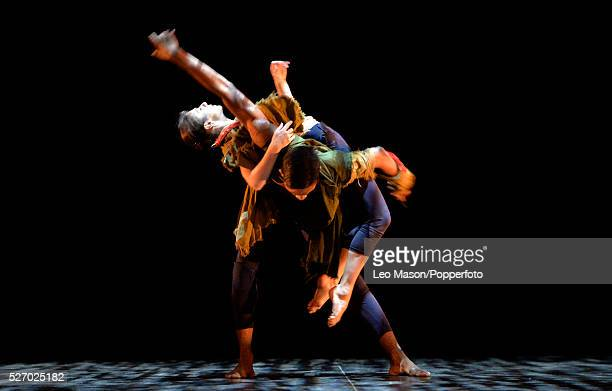 English National Ballet Company performing LEST WE FORGET at the Barbican Theatre London UK Second Breath Alina Cojocaru Junor Souza