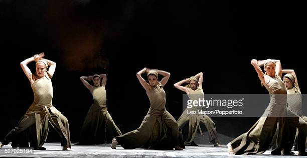 English National Ballet Company performing LEST WE FORGET at the Barbican Theatre London UK Dust Tamara Rojo artists of the Company