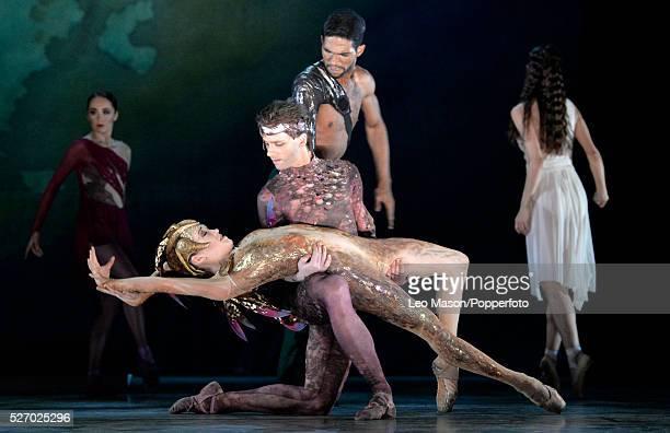 English National Ballet Company performing LEST WE FORGET at the Barbican Theatre London UK Firebird Ksenia Ovsyanick Zdenek Konvalina Begona Cao...