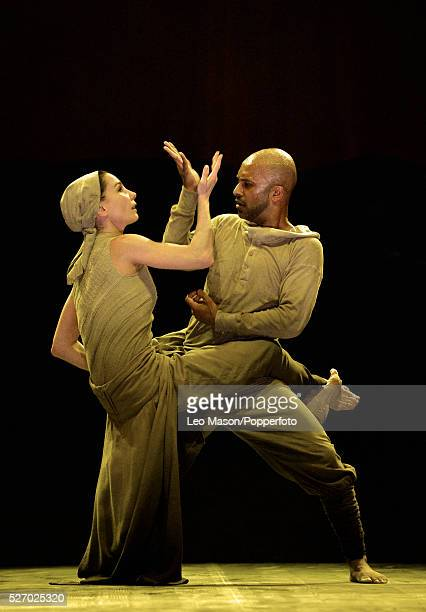 English National Ballet Company performing LEST WE FORGET at the Barbican Theatre London UK Dust Tamara Rojo Akram Khan