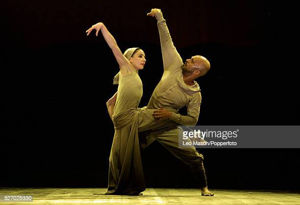 English National Ballet Company performing LEST WE FORGET at the Barbican Theatre London UK Dust Tamara Rojo Akram Khan