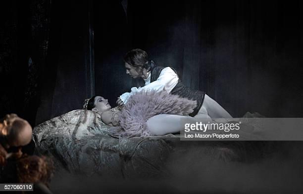 English National Ballet performing The Sleeping Beauty at Milton Keynes Theatre UK Princess Aurora Tamara Rojo Prince Desire Vadim Muntagirov