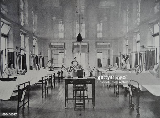 English National Health hospital ward with efficient nursing staff 1948