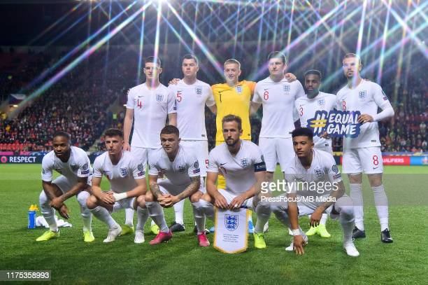 English national team group photo during the UEFA Euro 2020 qualifier between Czech Republic and England at Eden Arena on October 11, 2019 in Prague,...
