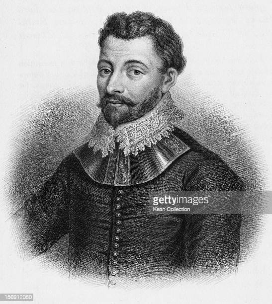 English naval captain Sir Francis Drake circa 1588 Engraved by Freeman from an original painting