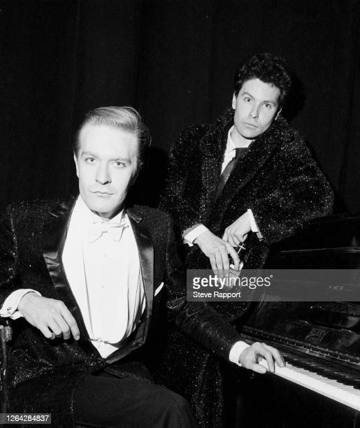 English New Wave and Synth Pop musician Martin Fry , of the group ABC, and director Julien Temple film the 'Poison Arrow' music video at the Theatre...