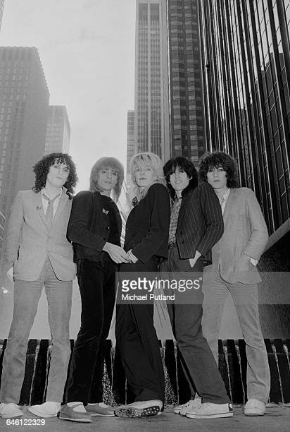 English new wave group Japan New York September 1979 Left to right guitarist Rob Dean bassist Mick Karn singer David Sylvian drummer Steve Jansen and...