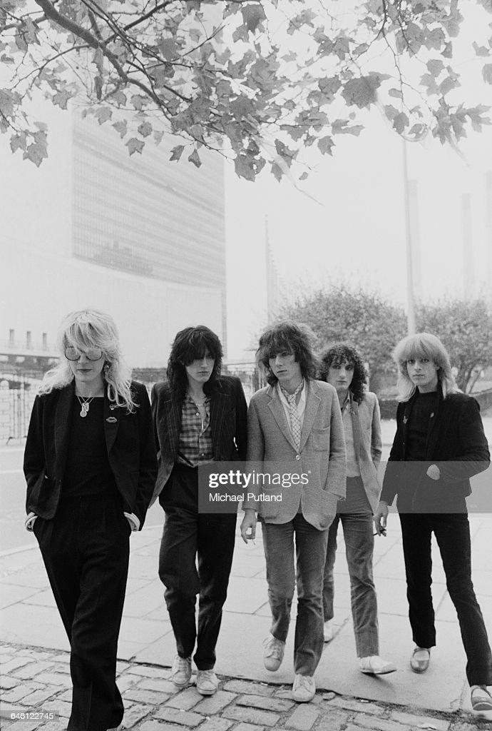 English new wave group Japan New York, September 1979  Left