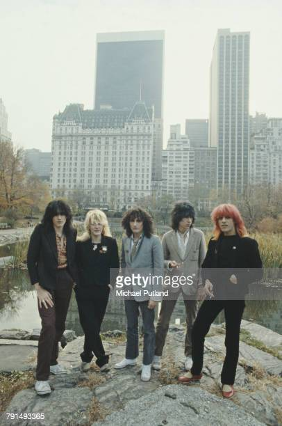 English new wave group Japan posed together in Central Park in New York in September 1979 The band are left to right drummer Steve Jansen singer...