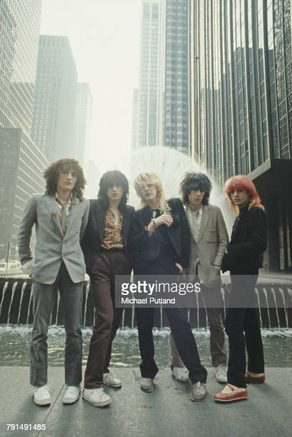 English new wave group Japan posed together in New York in September 1979 The band are left to right guitarist Rob Dean drummer Steve Jansen singer...