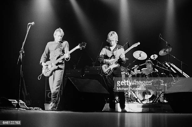English new wave group The Police performing at the Palladium New York 29th November 1979 Left to right Sting Andy Summers and Stewart Copeland