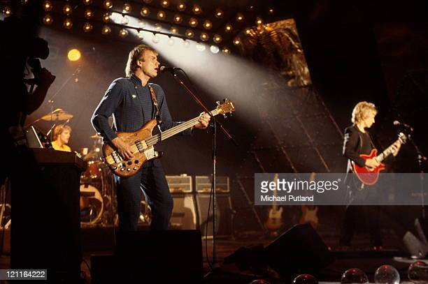 English new wave group The Police performing on the 'Don Kirshner's Rock Concert' TV show Los Angeles 6th February 1980 Left to right Stewart...