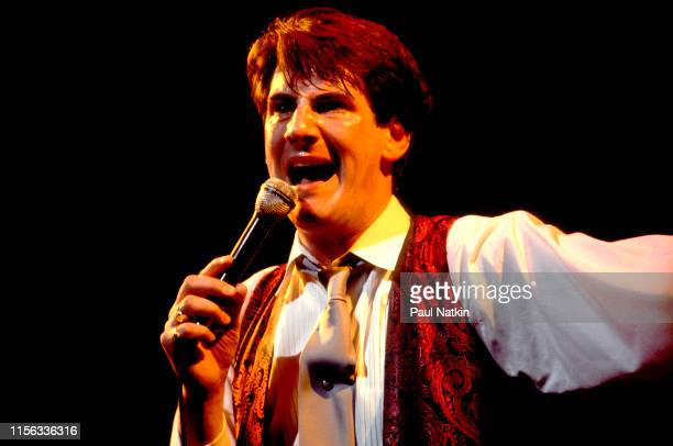 English New Wave singer Tony Hadley of the group Spandau Ballet performs onstage at the Shubert Theatre Chicago Illinois December 1 1983