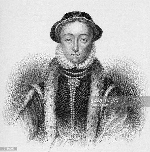 English noblewoman Lady Jane Grey circa 1552 She was de facto queen of England between the 10th and the 19th July 1553 Engraving by Freeman