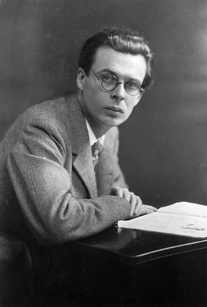 English novelist and essayist Aldous Huxley .