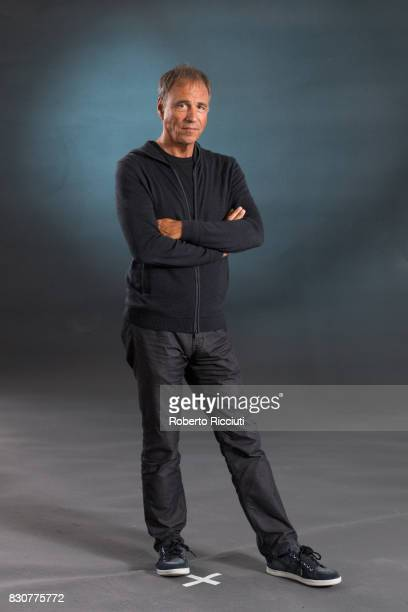 English novelist and screenwriter Anthony Horowitz attends a photocall during the annual Edinburgh International Book Festival at Charlotte Square...