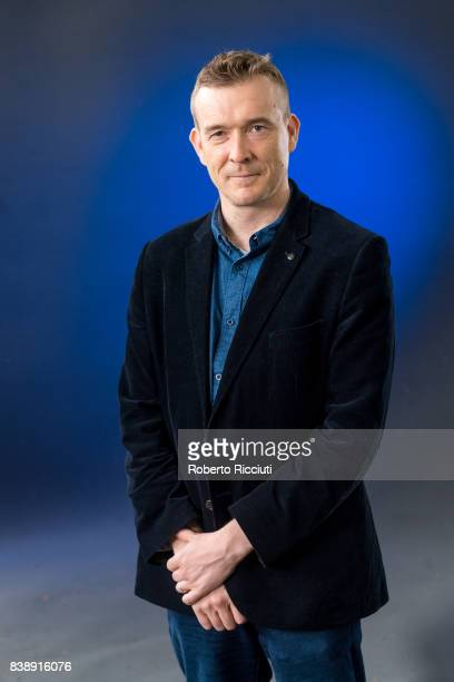 English novelist David Mitchell attends a photocall during the annual Edinburgh International Book Festival at Charlotte Square Gardens on August 25...