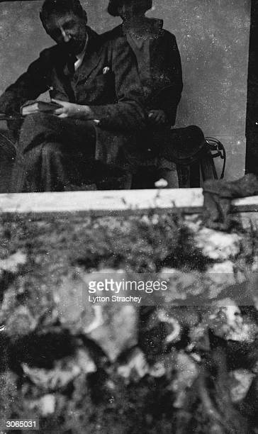 English novelist E M Forster with painter Dora Carrington at Ham Spray Wiltshire the home she shared with Lytton Strachey and Ralph Partridge