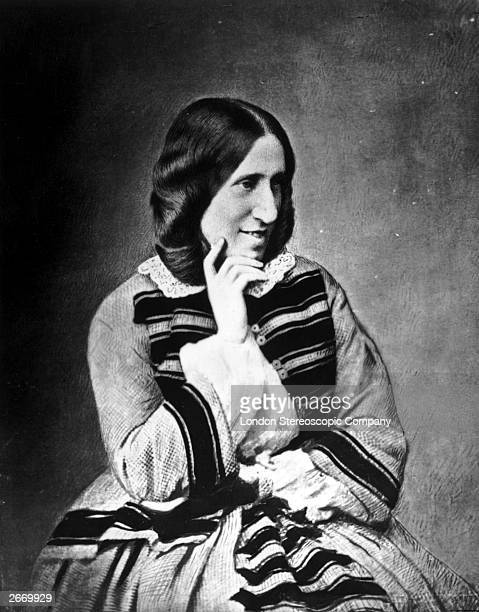 English novelist George Eliot pseudonym of Mary Ann Evans circa 1850
