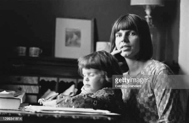 English novelist Margaret Drabble with her daughter Rebecca Swift , UK, 21st October 1966.