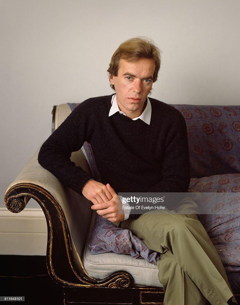 English novelist Martin Amis, London, 1989.