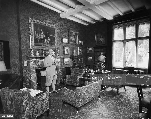 English novelist PG Wodehouse visits Hunstanton Hall the home of his friend Charles Le Strange in Norfolk 7th September 1928