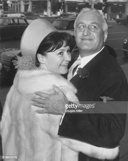 English operatic soprano Adele Leigh marries Dr Kurt Enderl the Austrian Ambassador to Budapest at the Marylebone Register Office London 19th...