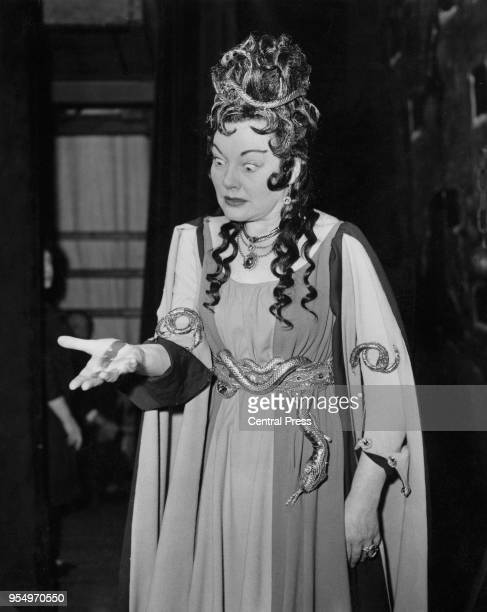 English operatic soprano Amy Shuard as Lady Macbeth during rehearsals for Verdi's opera 'Macbeth' at the Royal Opera House in Covent Garden London...