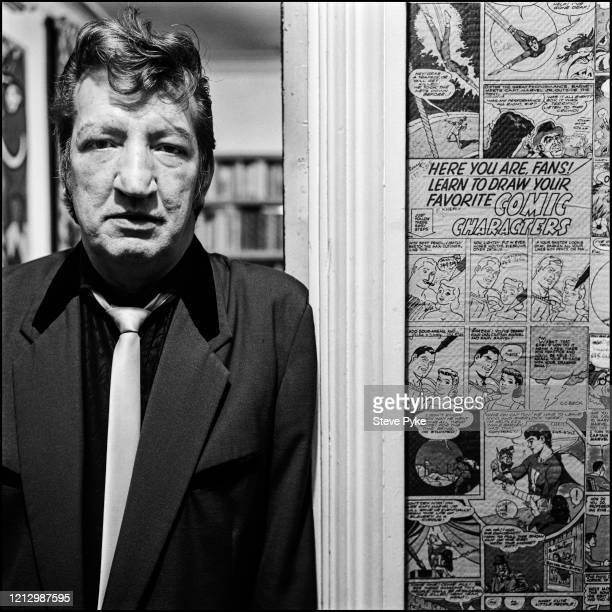English painter and art journalist Christopher Battye at his home and studio in London 9th October 1992