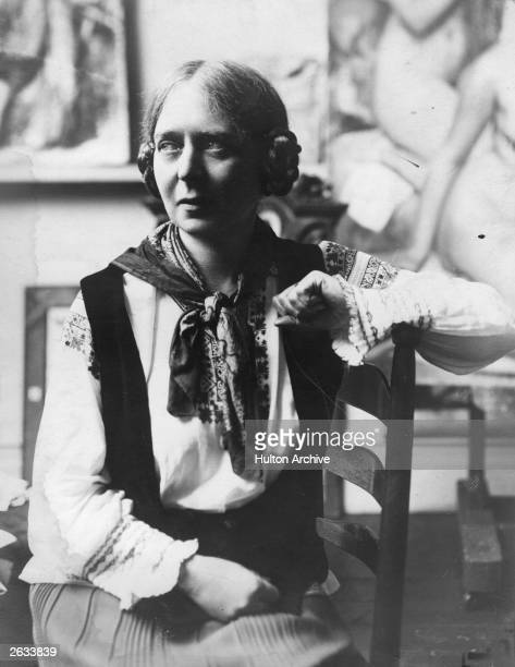 English painter Dame Laura Knight OBE RA who was the first woman to be elected an RA since 1768 Original Publication People Disc HG0082