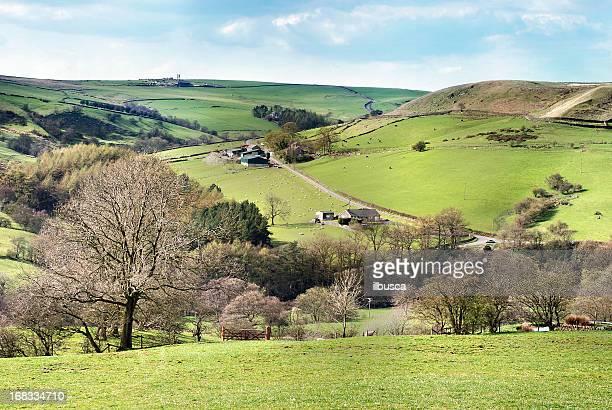 English Peak District landscape