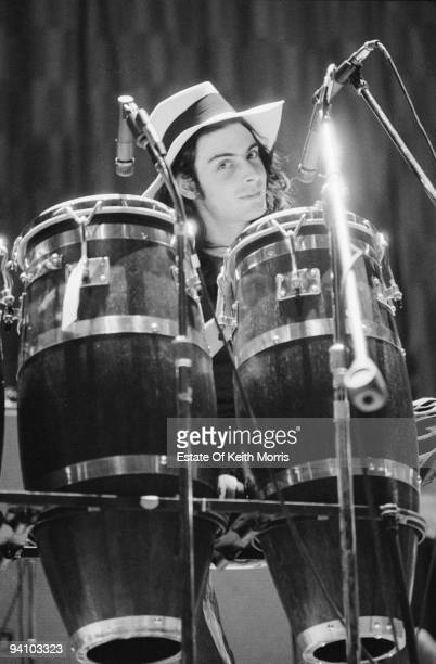 English percussionist Mickey Finn of English glam rock group TRex during a US tour 1971