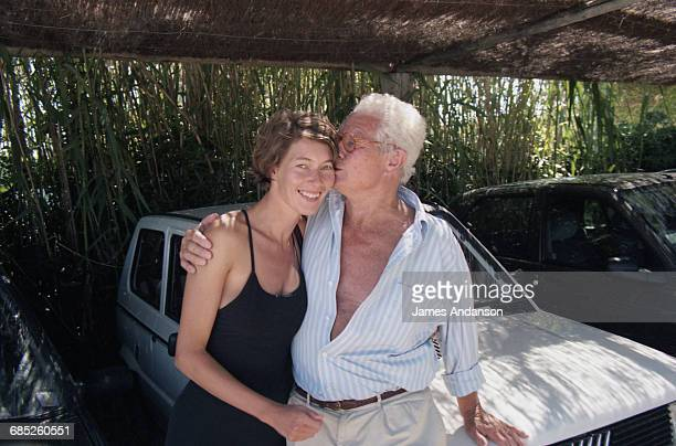 English photographer and film director David Hamilton and his wife Gertrude in St Tropez France 7th July 1997